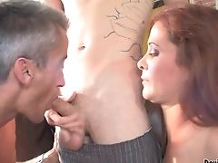 Sandy-haired Seductress Gets Revved On Then Banged