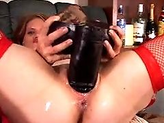 Amateur Monster Dildos Squirt And Self Fisting 3