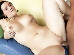Dark Haired Noelle Easton Strips Naked To Give A Close-up Of Her Vag In Solo Scene