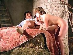 Sweet And Slender Blondie Sucking Dick In The Barn