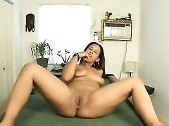 Senora Parts Her Gams To Fuck Her Moist Cunt With Equipment