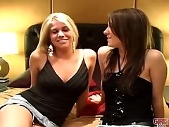 Gals Gone Wild - Teenage Besties Jessica And Ashleigh Get Comfy With Each Other