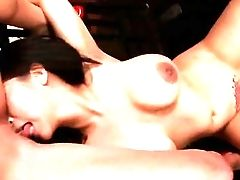 Brown-haired Tigerr Benson With Massive Breasts And Slick Thicket Makes Her Girl/girl Fantasies A Reality With Tiffany Doll