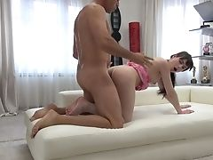 Natural Nice Fresh Woman In Pink Stuff Rails Dick After Bj And Gets Poked Mish