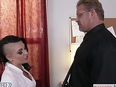 Extravagant Bitch Rachael Madori Hooks Up With One Dude In The Office