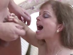 Step-mom Help Step Sonnie To Get His First-ever Fuck