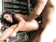 Brown-haired Dylan Daniels Gets Her Lovely Face Covered In Splooge