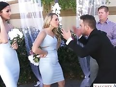 Horny Blonde Huge-boobed Bride Wanna Rail Strong Fat Stiffy Of Her Groom