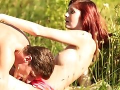 Ginger-haired With Big Breasts Gets Covered In Man Splooge On Web Cam For Your Viewing Enjoyment