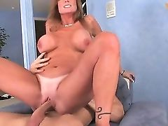 Hot Blonde Darla Crane With Extra Large Milk Cans Passionately Railing Her Bf Johnny Sins's Big Pecker.