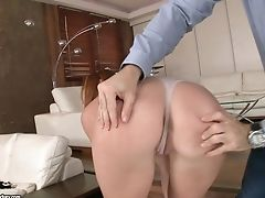 Red-haired Lady In Crimson Eva Berger Gives A Fellatio