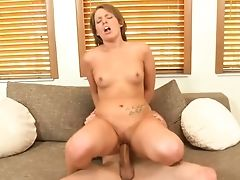 Hot Nadia Can't Stop Railing That Knob