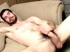Hairy Jock Wanking And Tugging His Thick Hard Dick Solo