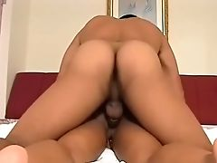 Hot Dark-hued Stunner Takes Her Very First Big Arab Beef Whistle