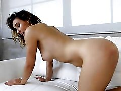 Brown-haired Jessy Jones Playing With Herself For Camera