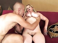 Blonde With Massive Jugs And Horny Stud Do Lewd Things