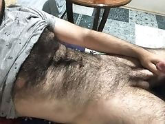 I'm Getting Ready To Masturbate By Jerking My Hairy Assets