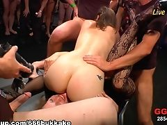 Horny Superstar In Fabulous Fixation, Group Fucky-fucky Intercourse Scene