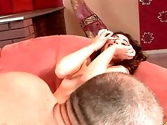 Black-haired Tiffany Doll And Hard Dicked Dude Love Oral Hook-up