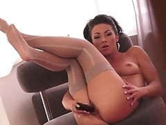 Brown-haired Silvia Saint Can't Stop Masturbating