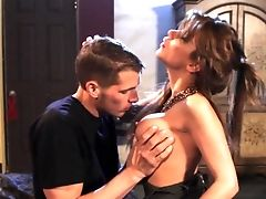 Dark Haired Aleksa Nicole With Edible Breasts Gets Covered In Man Goo